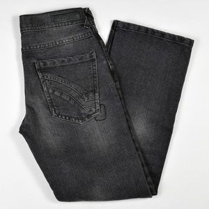Ring of Fire Boys Jeans Black Sz 12 Straight Fit